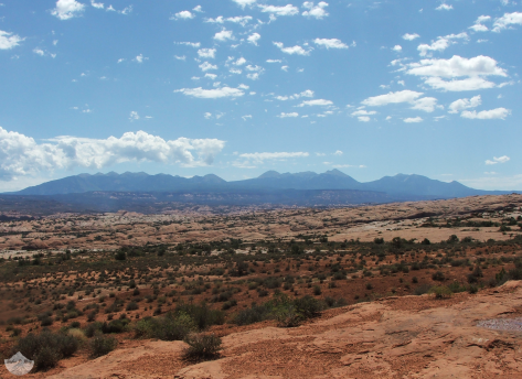 The La Sal Mountains seen from Arches National Park